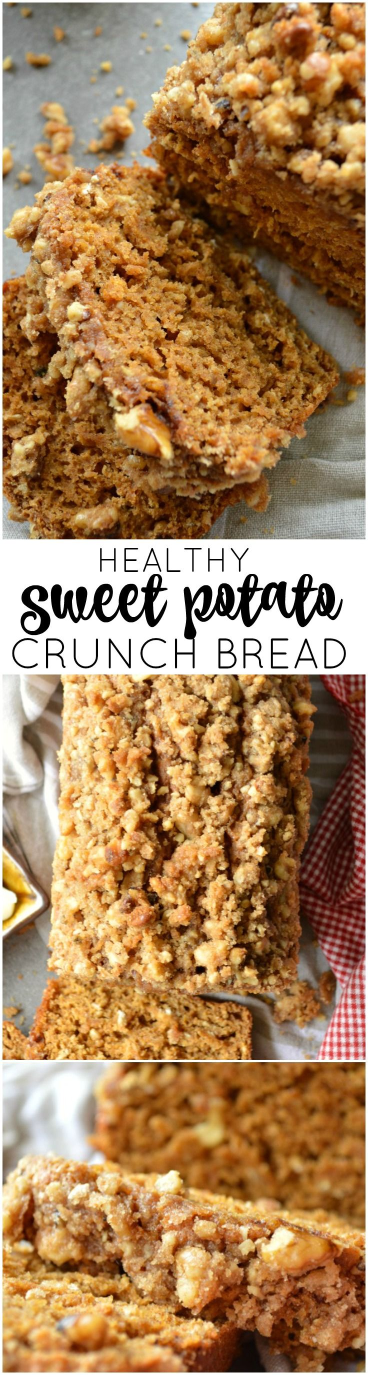 Healthy Sweet Potato Crunch Bread you can nosh on for breakfast, brunch, or every eating occasion in-between. A lightened up quick bread recipe you'll adore.