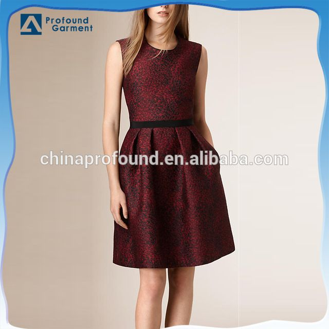 Source grosgrain waistband sleeveless latest dress designs 2015 ladies cotton dress on m.alibaba.com