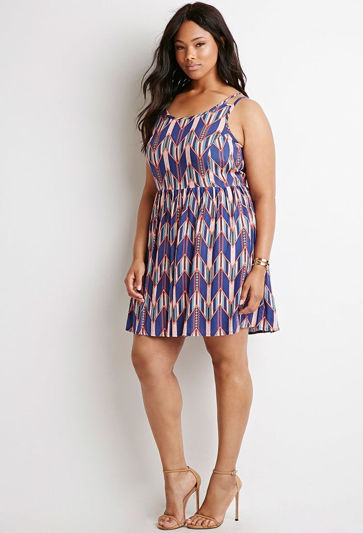 Chevron Tribal Print Dress   Forever 21 PLUS - 2000077085