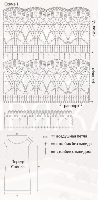 Белая юбка крючком от Glance. Красивая модель летней юбки крючком со схемами.