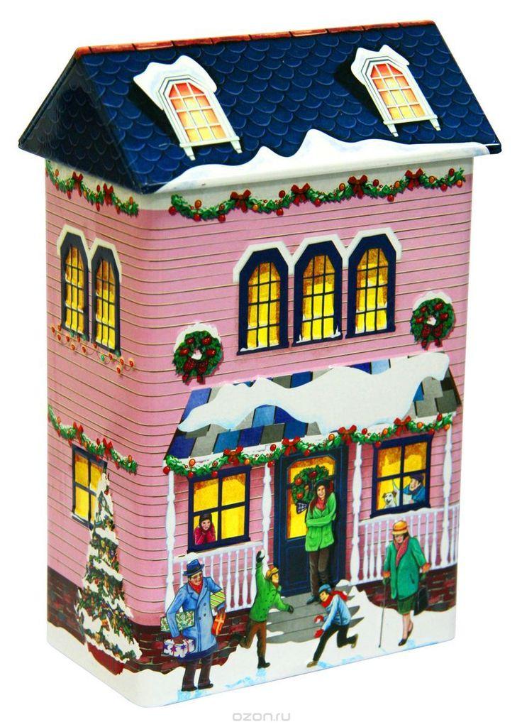 Купить Сладкая Сказка Зимний Дом розовый имбирное печенье, 260 г в интернет-магазине OZON.ru
