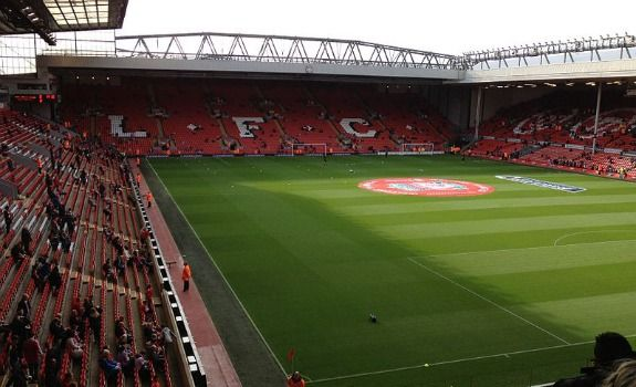 Anfield holds its spot as one of the best atmospheres in the world to see a #futbol match. #Anfield #Liverpool #England #Soccer #Stadiums