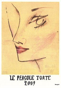 Montevertine: Le Pergole Torte. Etichette artistiche Le Pergole Torte di A. Manfredi.