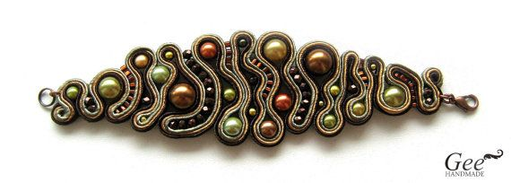 soutache bracelet...so unique! Love it!!
