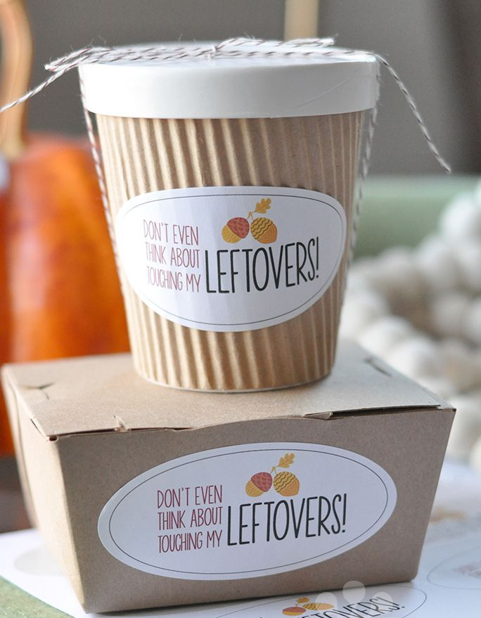 Wrap up your leftovers in style and send your guests off smiling with this adorable DIY Thanksgiving leftover packaging. Click through for printables and tutorials shared by Pottery Barn.
