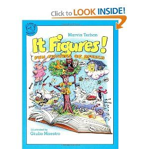 """""""It Figures!: Fun Figures of Speech"""" by Marvin Terban --Terban introduces metaphors, similies, onomatopeia, alliteration, hyperbole, and personification. Maestro's cartoons reinforce the material and help readers to understand the concepts fully."""