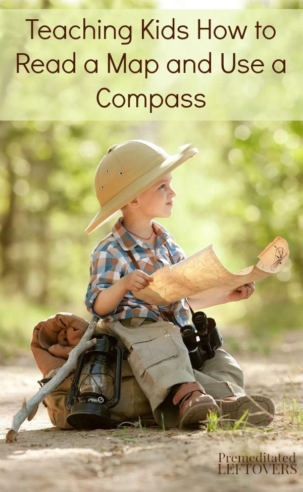 Teaching Kids How to Read a Map and Use a Compass - Simple activities to teach kids how to read a map and how to use a compass.