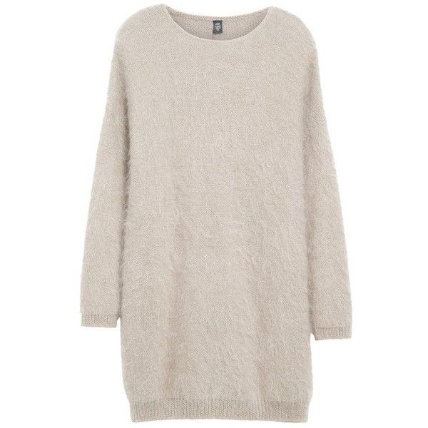 Women's Eleventy Mohair & Silk Sweater Dress (€820) ❤ liked on Polyvore featuring dresses, sweaters, tops, vestidos, pink silk dress, sweater dresses, pink dress, over the knee dresses and silk dress