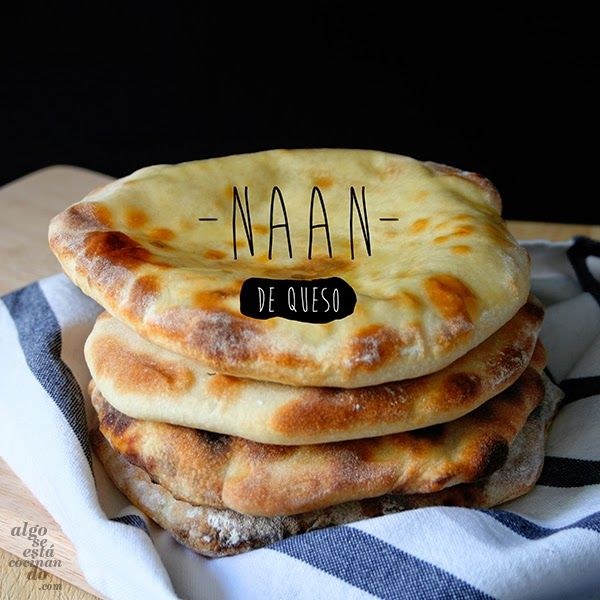 Naan, queso, comida india, pan