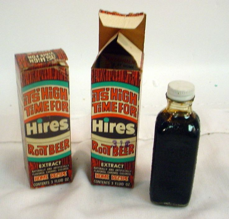 Lot of 2 Vintage HIRES ROOT BEER Extract original box Collectible Food Cooking