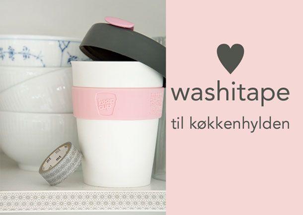 Washitape til køkkenhylden