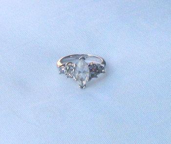 Vintage Glass Engagement Ring Avon Ring Rhinestones by picsoflive, $14.00