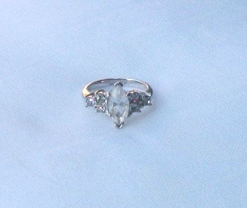 Vintage Glass Engagement Ring Avon Ring Rhinestones by picsoflive, $14.00