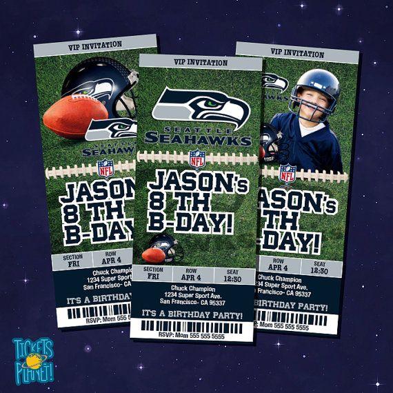 Seahawks Tickets Birthday Invitation Card  by TicketsPlanet, $10.00 - Seahawks