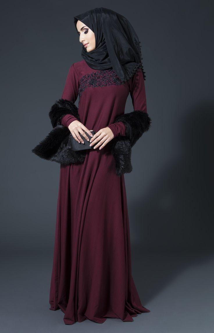 Lace umbrella abaya   best Abaya images on Pinterest  Hijab outfit Hijab styles and