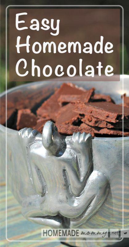 Easy Homemade Chocolate   www.homemademommy.net