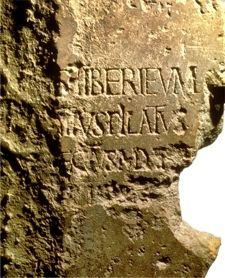 Archeologia e Nuovo Testamento: L'iscrizione di Pilato.   Articoli Cristiani