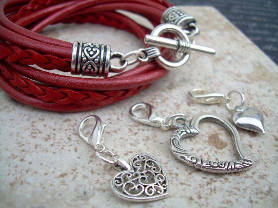 Womens Leather Bracelet Five Strand Double by UrbanSurvivalGearUSA, $27.99