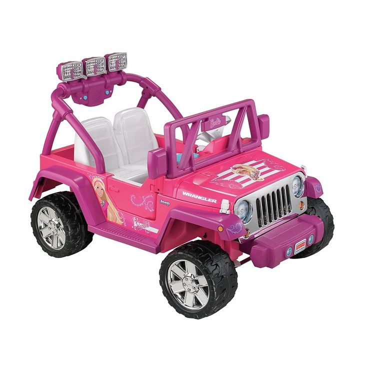 Barbie Power Wheels Jammin' Jeep Wrangler by Fisher-Price, Multicolor