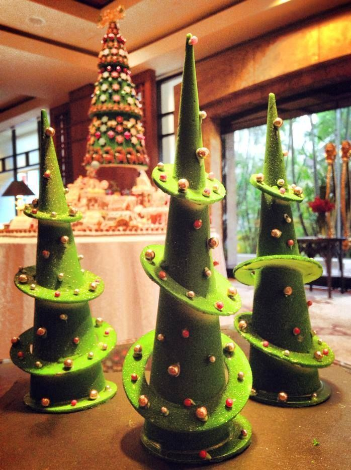 Exceptional Five Star Holiday Decor Part - 9: Topsy Turvy Gingerbread Trees Tantalize Guests At Stang Singapore. Find  This Pin And More On Luxury Holiday Decor ...