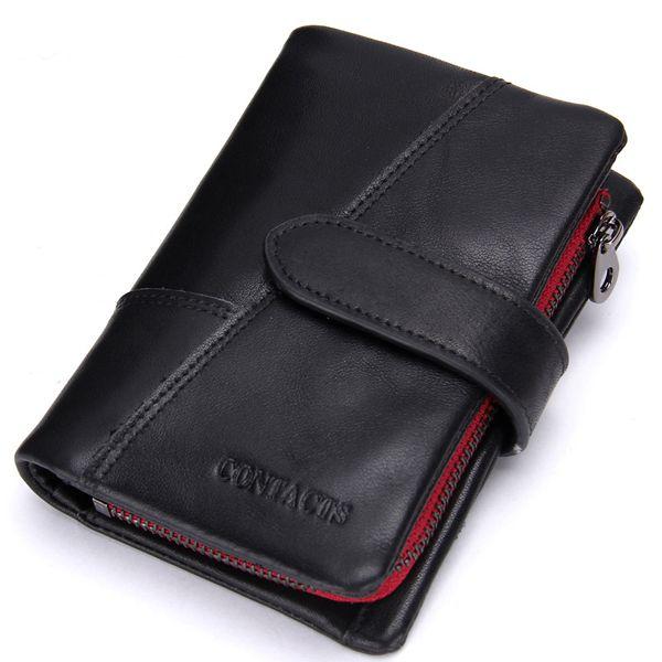 Подлинный кожаный бумажник старинных standstone мужчины кошельки мужской кошелек мешок монет