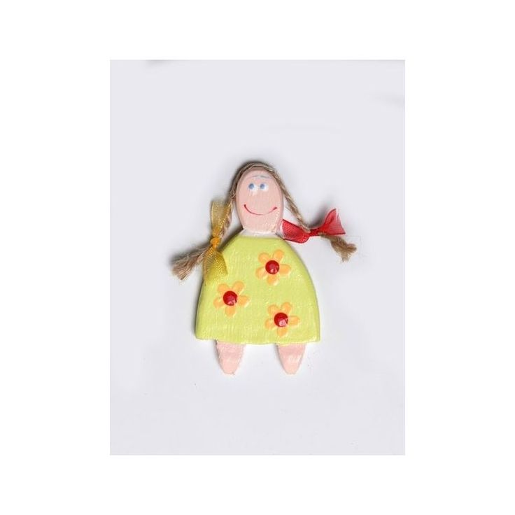 Hand-painted Little Girl Magnet – 6cmHand-painted Little Girl Magnet – 6cm