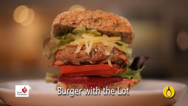 Burger with the lot National Heart Foundation