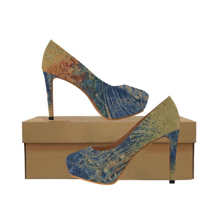 3 colors paint Women's High Heels