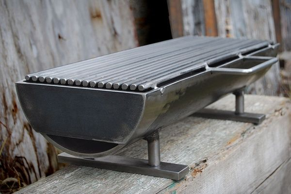 """Welding project! Did you know:  if you use cast iron for the grill (Hibachi) it will impart a 'charcoal' flavor. Many restaurants that advertise """"Char-Broil"""", use this method. (just  saying)"""