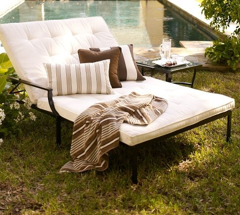 Riviera Double Chaise U0026 Cushion: Room For Two| POTTERY BARN.