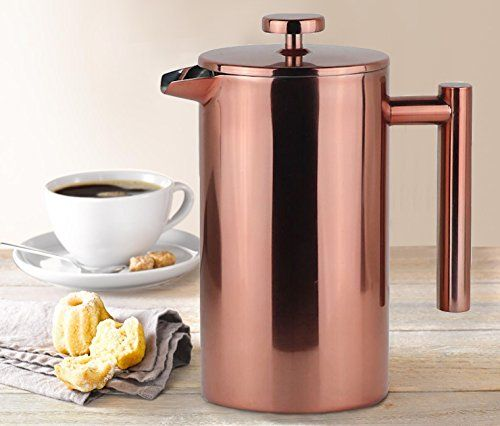 French Press Stainless Steel 1000ml 8 Cups, Coffee Maker with Gift Box, Perfect Gift for Coffee Lovers #French #Press #Stainless #Steel #Cups, #Coffee #Maker #with #Gift #Box, #Perfect #Lovers
