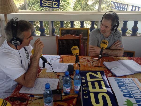 Juan Merín y Francino en la Ventana de la Cadena Ser en directo desde Bamako