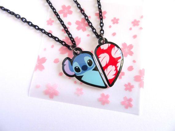 Aloha! Lilo & Stitch Best Friends Forever Necklace Set