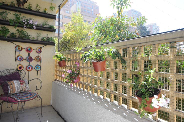 Vegetación en la terraza sin restar espacio