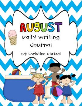 A writing journal page with writing prompt for every day of the month!