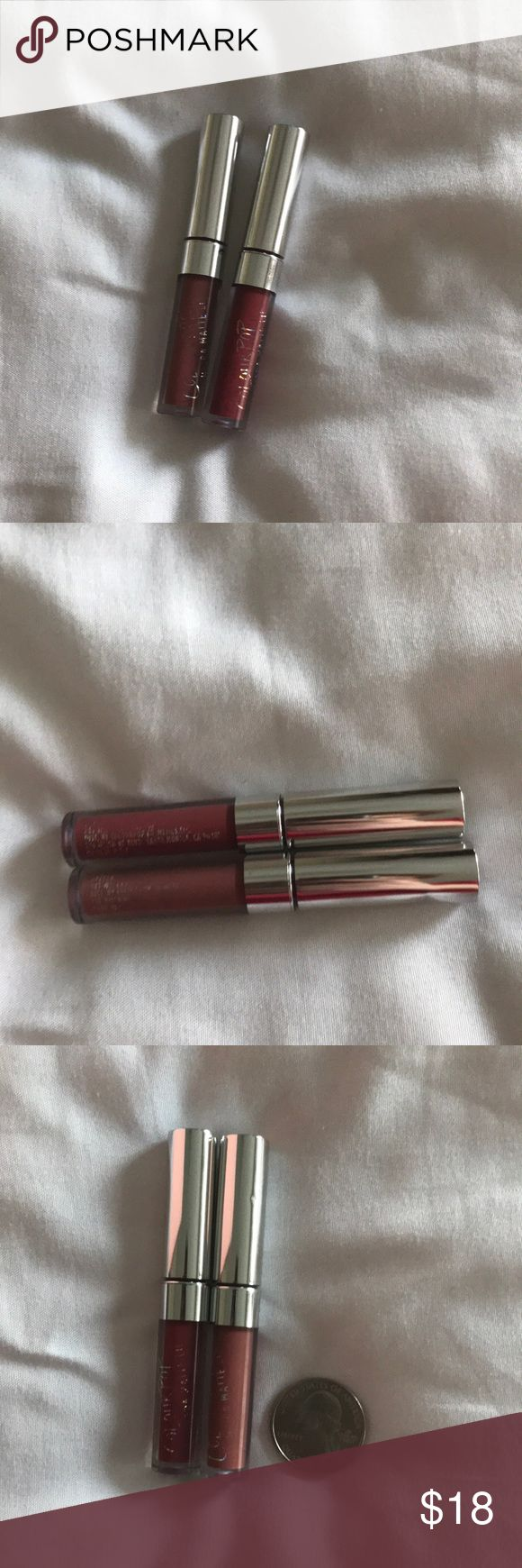 Colourpop Matte Lipsticks 2 Colourpop Matte Lipsticks  'Tulle' and 'Deeper' NWOB  Never used or swatched  Wear is from being stored together and running against each other  If you have any questions please ask!  I accept most offers! Bundle with other items for my closet for an extra discount! Colourpop Makeup Lipstick