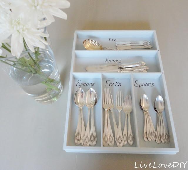 17 best ideas about silverware organizer on pinterest for Creative silverware storage
