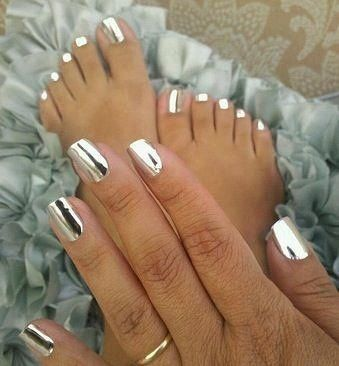 Looking for something wildly different? Try Metallic Chrome Silver Jamberry Nails www.nailvanity.jamberrynails.net