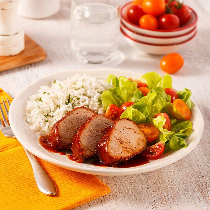 Un filet de porc nouveau genre: facile à préparer et délicieux, il cuira doucement pendant la journée et remplira de bonheur les estomacs de toute la tablée!