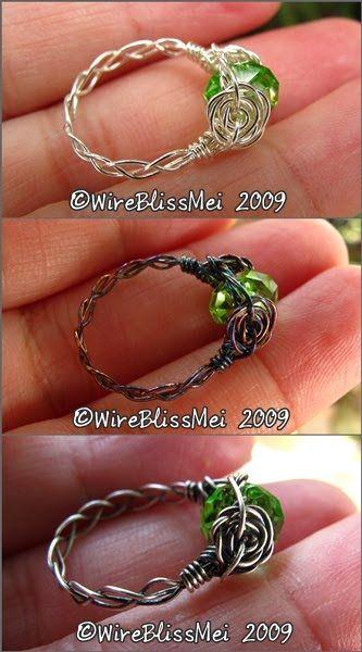 WireBlissMei: Braided Wire Ring