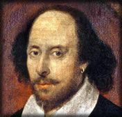 Portrait of William Shakespeare Beware the Ides of March