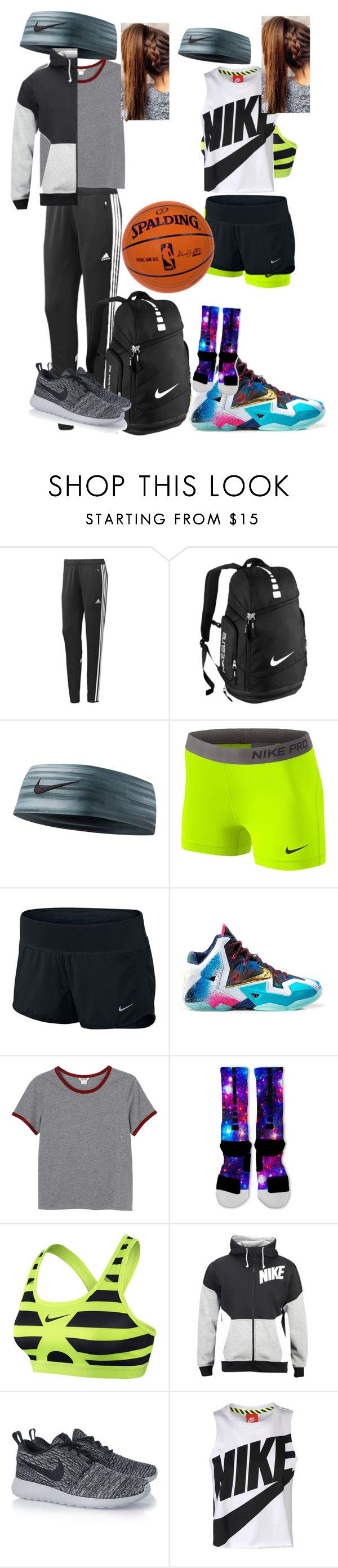 """""""OOTD 12/2/15 Basketball Practice After School"""" by kirstinv1226 ❤ liked on Polyvore featuring moda, adidas, NIKE i Monki"""