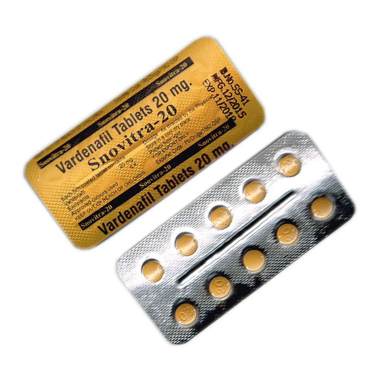 Vardenafil (Snovitra) 20mg tablet resolves many health issues related to men.These vardenafil 20mg pills are effective in improving erectile function in men who suffer from other health disorders and prostate surgery. Keep in mind, it is not for people who have allergies or taking any from of nitroglycerin or those who have had a heart attack, stroke or low blood pressure or life threatening heart irregularities. Buy vardenafil 20mg online here…