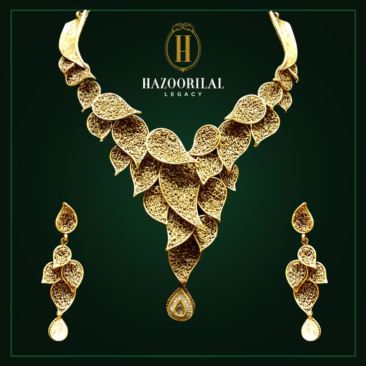 Imperial leaves of legacy. #HazoorilalLegacy #Hazoorilal #Jewelry #Gold #Necklace