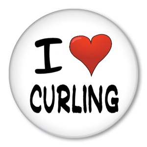 #curling #pinback #button #badge