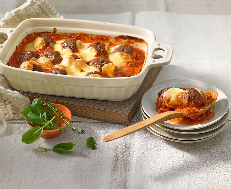 Hackbällchen Toskana mit Tomatensoße und Käse