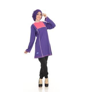Baju Blus Tunik ALNITA AA-03 Ungu Terong