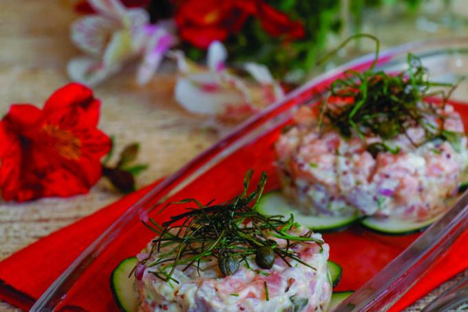 Receita de Tartare de salmão com cebolinha