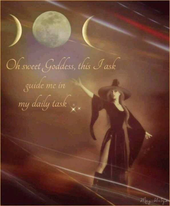 "Chant: ""Oh sweet Goddess, this I ask, guide me in my daily task."" - Pinned by The Mystic's Emporium on Etsy"