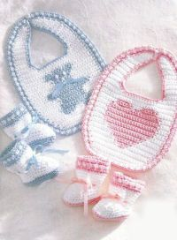 Free baby patterns: Craft, Free Pattern, Free Crochet, Crochet Baby, Baby Crochet, Baby Bibs, Crochet Patterns